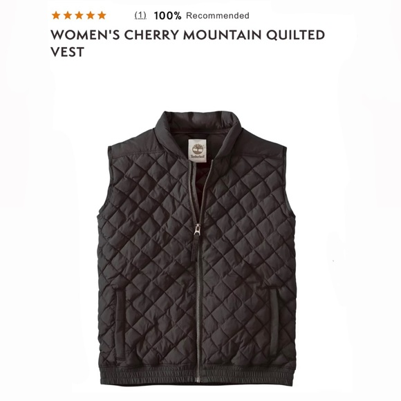 NWT Timberland Cherry Mountain Quilted Vest